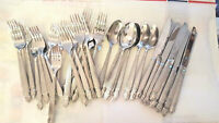 JCP Home Chris Madden Stainless Steel Flatware 40 Piece Mixed Lot Column Pattern