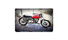 1972 sx350 Bike Motorcycle A4 Retro Metal Sign Aluminium