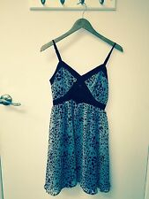 Forever 21 ladies summer dresse size M brand new purple/blackgray leopard design