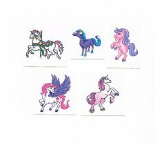 5 x Cute Horse and Unicorn Temporary Tattoos  - Party Favours, Xmas gift