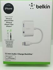 Belkin Lightning Audio Charge Rockstar - Listen and Charge iPhone 7 8 X PLUS