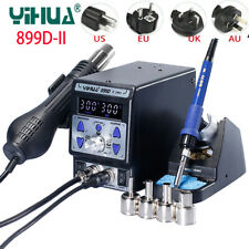 YIHUA 899D II BGA Rework Soldering Station 2in1 SMD Desoldering Iron Hot Air Gun
