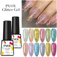 PVOY 7.3ml Nail Glitter Sequins UV Gel Nail Polish Nail Art Soak Off Gel Varnish