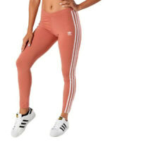 MED adidas Originals Women's Classic 3 STRIPES LEGGINGS UK14 US10 ash pink LAST1