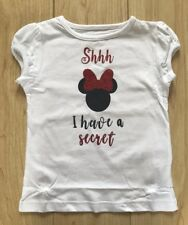 Disney Minnie Mouse I'm Going To Be A Big Sister Tshirt Top New baby Pregnant 💖