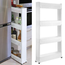 Mobile Shelving Unit Organizer Slide Out Pantry Storage Rack for Narrow Spaces