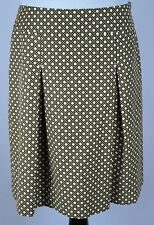 Women's Talbots Bamboo Triaxial Weave Printed Box Pleated A-Line Skirt - Size 10