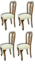 set of quattro chairs walnut 60's vintage modern antiques