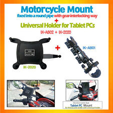 Tablet Mount Bike Motorcycle Mount+Universal Holder for iPad Mini Galaxy Tab7...