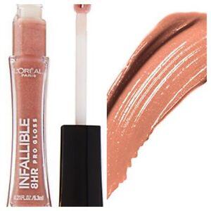 L'Oréal  Paris Infallible Le Gloss Lip Gloss Color Coral Sands 405. 0.21 Fl Oz.