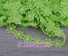 1/5Yard Retro Flower Lace Edge Trim Embroidered Fabric Sewing Applique Trim