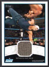 WWE 2012 (Topps) WHITE BORDER AUTHENTIC SHIRT RELIC Card: HUNICO