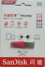 iPhone iPad Lightning USB 128GB Flash Drive Expandable Memory By San Disk