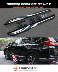 Fixed Door Side Steps Running Board Nerf Bar Fits for Honda CRV CR-V 2017-2021