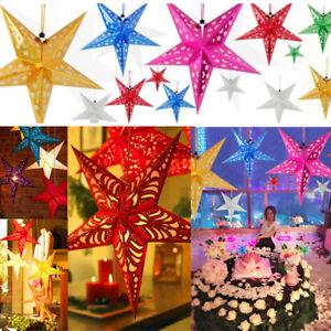 HANGING STAR Light Ceiling Lamp Paper Lantern Shade Christmas Xmas Wedding Decor