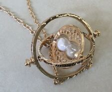 Harry Potter Rotating Spin Hourglass Gold Necklace TimeTurner Granger Hermione!