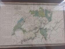 antique map confederation suisse - jules renouard.large map