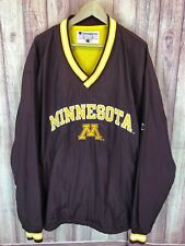 Vintage Champion Minnesota Gophers V Neck Windbreaker Jacket Mens XXL 2XL 135