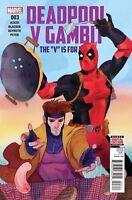 Deadpool v Gambit #3 NM 1st Print Marvel Comic 2016 ships in T-Folder