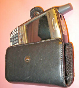 Cell phone case Leatherette snap close belt clip fits Trio and others used