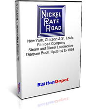 Nickel Plate Road Steam and Diesel Diagrams - PDF on CD - RailfanDepot