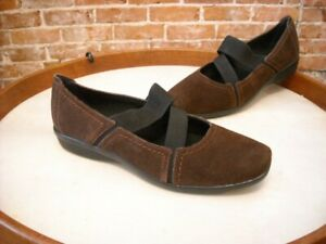 Clarks Haydn Juniper Brown Suede Gored Mary Janes Shoes NEW