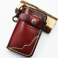 Men's Genuine Leather Key Wallet Cowhide Unisex Card Case Car Key Bag Key Holder