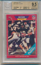 1989 Pro Set Football Mike Elkins (Rookie Card) (#525) (Population of 1) BGS9.5