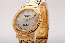 Estate $18,000 34mm Mens or Ladies Rolex Cellini 18k Gold Watch 99g & BOX HEAVY