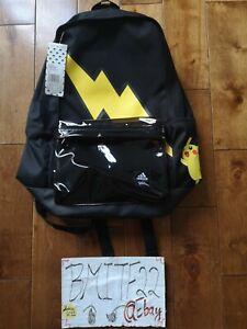 Adidas x Pokemon GE1212 Pikachu Thunderbolt Black Bag Backpack *Brand New*