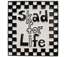 Ska'd For Life Ska Music Rude Boy Two Tone MOD Metal Enamel Badge Scooter Rider