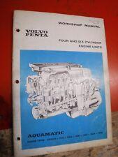 1970 VOLVO PENTA 4 & 6 CYLINDER ENGINE UNIT FACTORY SERVICE MANUAL WORKSHOP
