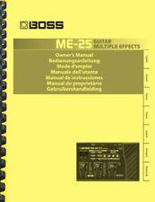 Boss ME-25 Guitar Multi-Effects 3-in-1 OWNER'S MANUAL