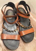 e360 easy spirit sandal size 8.5 es7cressia Brown Strappy