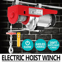 200KG Electric Hoist Scaffold Winch Lifting Crane Wire Motor High Carbon Engine