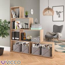 VICCO Treppenregal ASYM 6 Fächer Raumteiler Bücherregal Aktenregal Büroregal