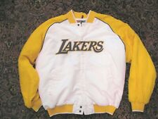 Vintage LA Lakers Men's Nike Satin Jacket Size XL Snap Front Quilted Lining