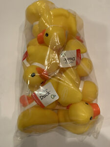 10 Classic Yellow Rubber Ducky Duckie Duck Bath Toy Party