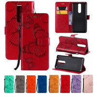 For Nokia 2.1/3.1/5.1/6 (6.1) 2018 Wallet Flip Card Slots PU Leather Case Cover