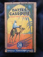 Boite ancienne Dattes Cassoute Marseille Deglet Nour publicité orientalisme déco