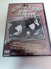 "DVD ""LAUREL Y HARDY EN EL OESTE"" COMO NUEVO VERSION BLANCO Y NEGGRO Y COLOR"