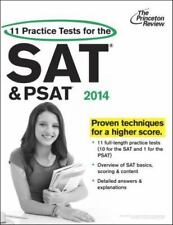 11 Practice Tests for the SAT and PSAT, 2014 Edition College Test Preparation