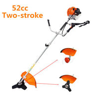 2 Stroke 52cc Pro Gas Straight Shaft Trimmer and Brush Cutter for Lawn Garden