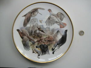 COALPORT McPHAILS SPORTING BIRDS GAME LARGE COLLECTOR PLATE LTD EDITION 2000
