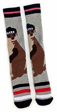 Ladies Cosy Meerkat Nerd Boot Knee Socks 4-8 UK / 37-42 Eur / 6-10 US