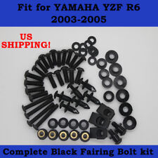 Complete Screws Black Bolt Kit fit for YAMAHA 2003-2005 YZF R6 2006-2009 R6S