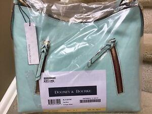 Dooney & Bourke Florentine Leather Cooper Hobo - PALE BLUE (Factory Sealed) #2