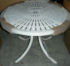 """NEW Tropitone La'Stratta 36"""" Round Dining Umbrella Table (White)"""