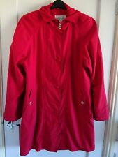 **BRIGHT RED FULLY LINED RAINCOAT**SIZE L**