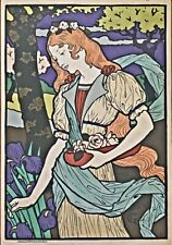 Grafton Gallery  Color Lithograph reproduction after Eugene Grasset 1897